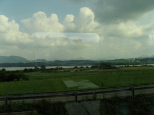 The Austrian countryside as seen from our train.