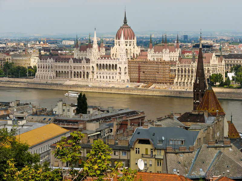 Houses of Parliament in Budapest, Hungary.