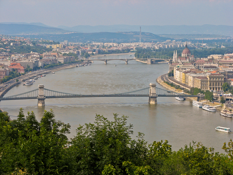 The bridges of Budapest, Hungary.