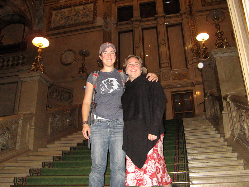 Hanging out in the Opera House in Vienna, Austria.