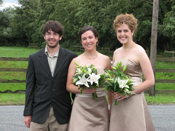 With my siblings at my cousin Chrissy's wedding.