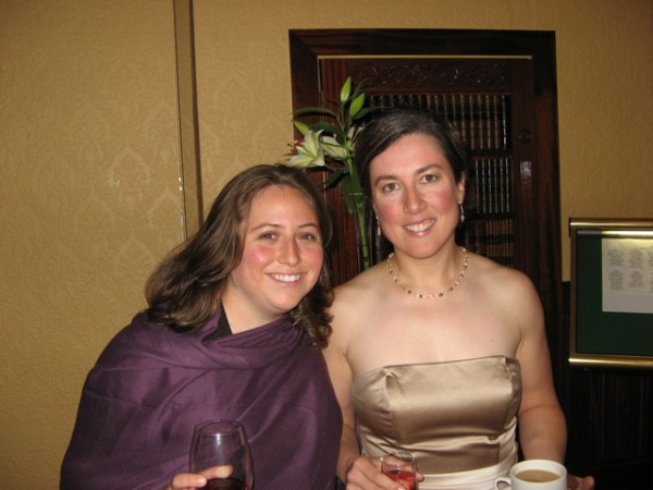 At the reception for my cousin Chrissy's wedding.