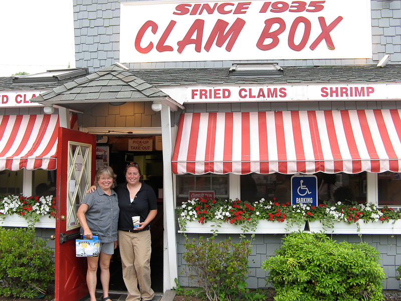 Jane and Kendra at the Clam Box in Ipswich, Massachusetts.