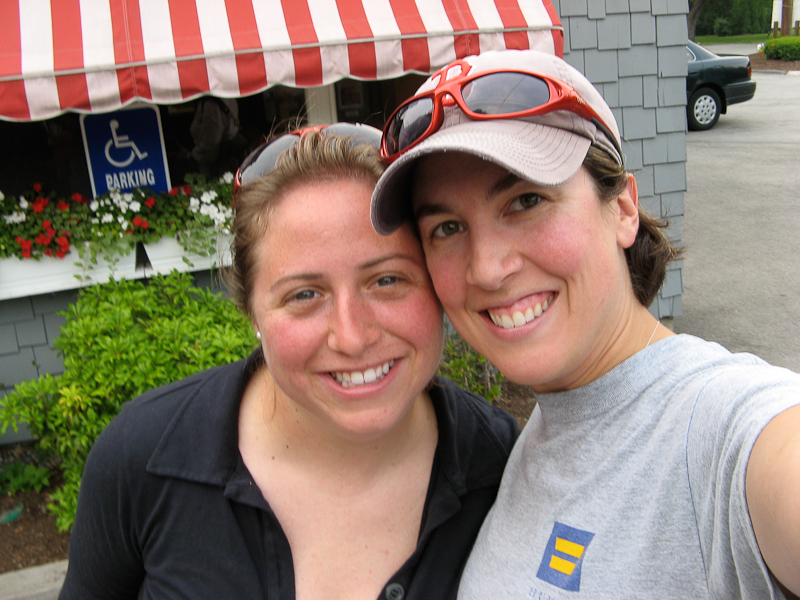 Kendra and me at the Clam Box in Ipswich, Massachusetts.