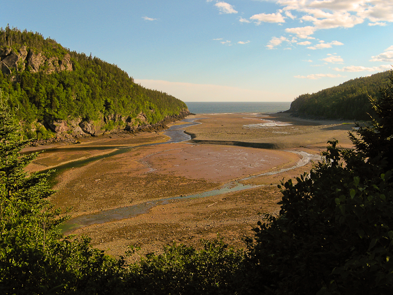 Looking out into the Bay of Fundy in Canada.