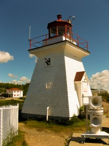 Lighthouse at Cape Enrage Adventure Center in Canada.