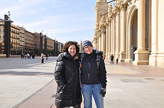 Hanging out with my friend Susana in Zaragoza, Spain.