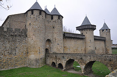 The fortress of Carcassonne, France.