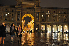 Florence, Italy at night.