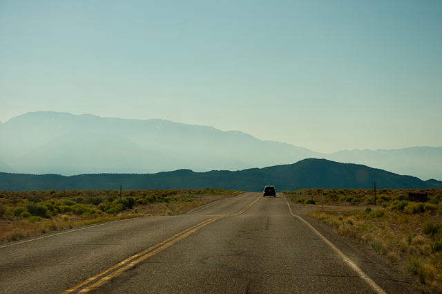 Driving through Nevada.