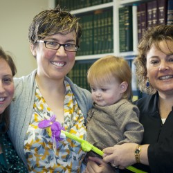Celebrating with the judge after the adoption was official!