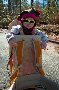 Addie ready to hike the Yellow Branch Trail in South Carolina