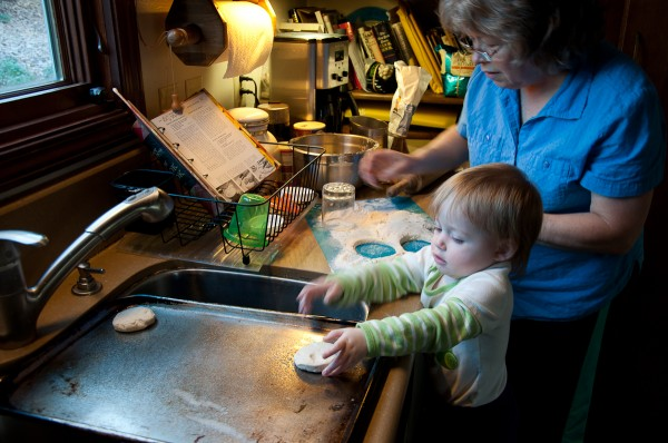 Baking biscuits with Grandmama