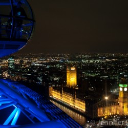 Big Ben and Parliment as seen from the London Eye
