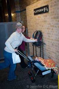 Platform 9 and 3/4 at Kings Cross Station in London, England.