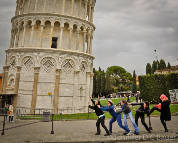 Pushing up the Leaning Tower of Pisa