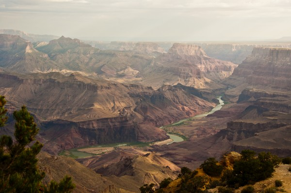 The Grand Canyon South Rim.