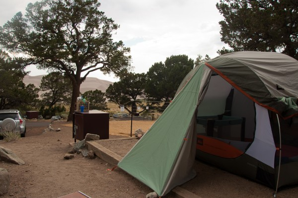 Our campsite at Great Sand Dunes National Park.