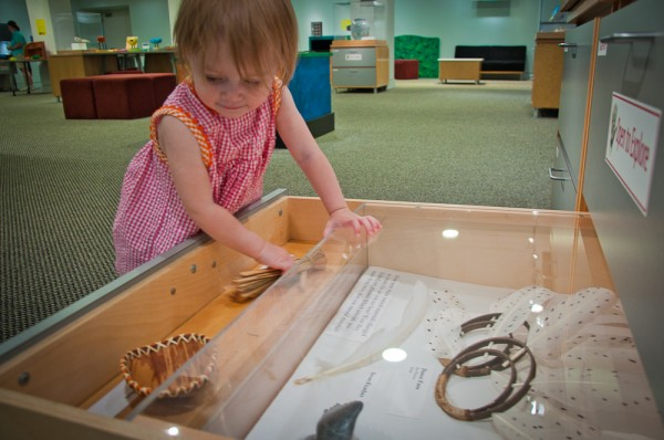Addie exploring at the Peabody Essex Museum in Salem, MA.