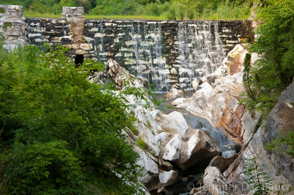The marble dam at Natural Bridge State Park in North Adams, MA.