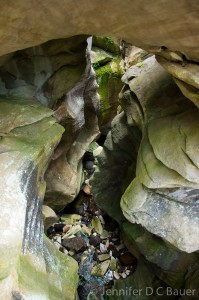The marble arch at Natural Bridge State Park in North Adams, MA
