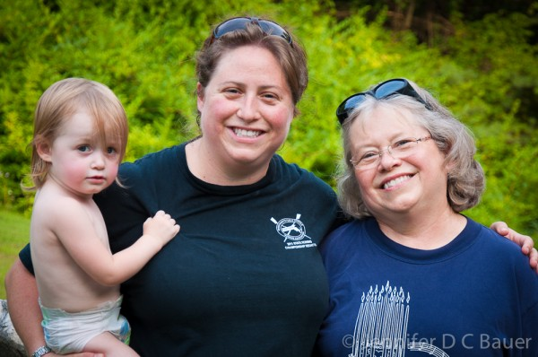 Addie, Mommy, and Grandmama at Natural Bridge State Park in North Adams, MA.