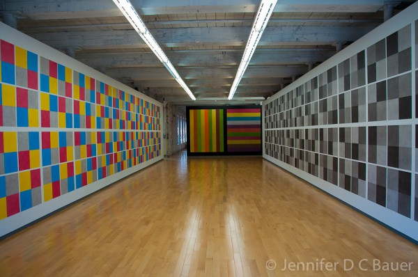 The Sol LeWitt exhibit at MASS MoCA, the Massachusetts Museum of Contemporary Art.