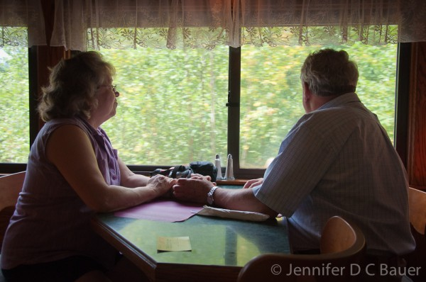 Jane and Boris on the Conway Scenic Railroad.