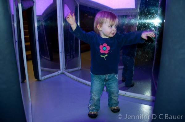 Addie having fun in the toddler zone of the Tate Modern in London, England.