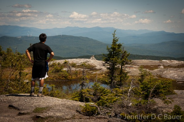 The view from Firescrew Mountain in NH.