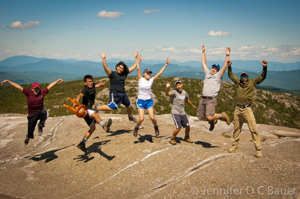 The summit of Mt. Cardigan in NH.
