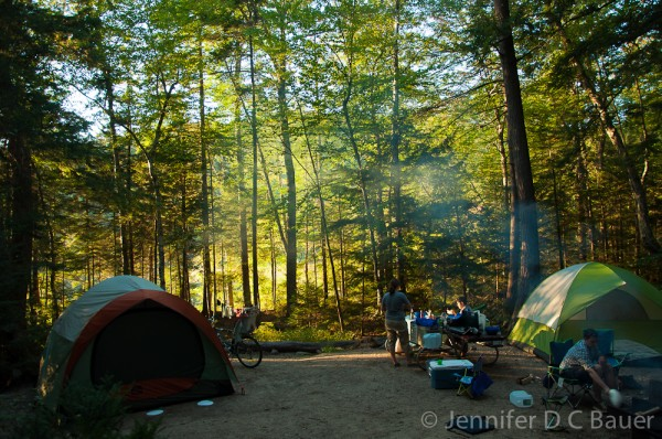 Russell Pond Campground in New Hampshire.
