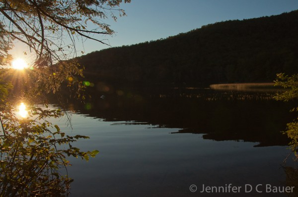 Sunset on Russell Pond in New Hampshire.