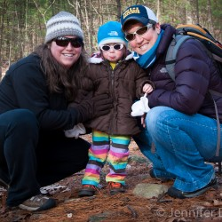 Mommy, Addie, and Mama in the Hammond reservation in Andover, MA