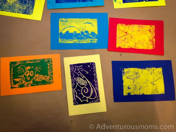 Printmaking at the Boston MFA.