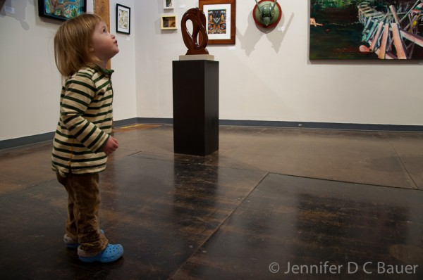 Exploring the Loading Dock Gallery at the Western Ave Studios in Lowell, MA.