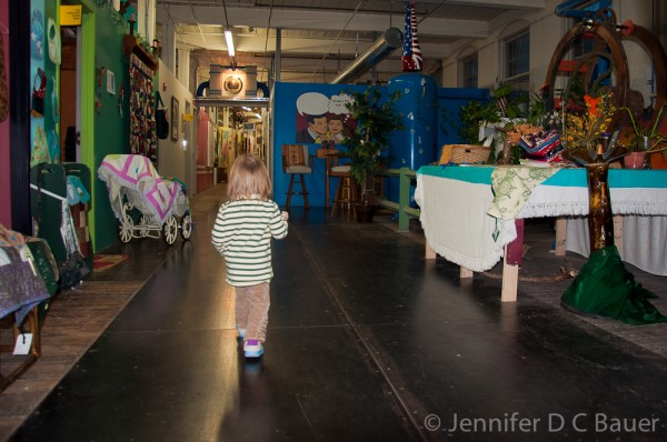 Exploring the halls of the Western Ave Studios in Lowell, MA.
