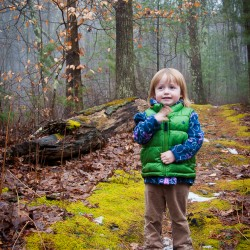 Addie hiking in the Hammond Reservation in Andover, MA