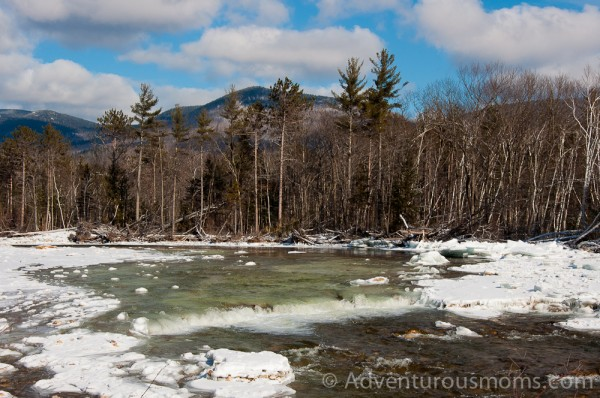 The banks of the Saco River at Bear Notch Ski Touring Center.