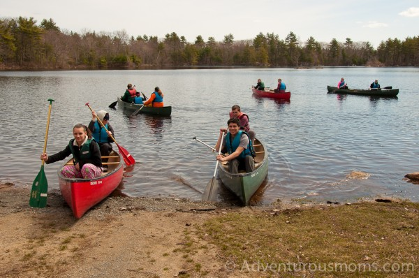 Canoeing at Harold Parker State Forest