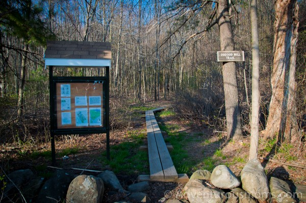 Osgood Hill Trail Head Kiosk on Osgood Street in North Andover, MA