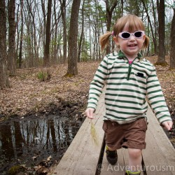 Hiking with Addison at Weir Hill in North Andover, MA