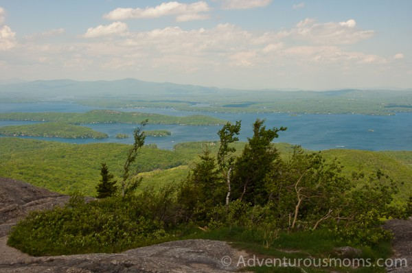 The view of Lake Winnipesaukee from the summit of Mt. Major