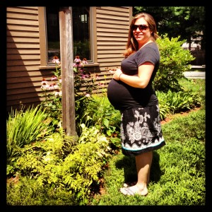 Kendra at 35 weeks pregnant!