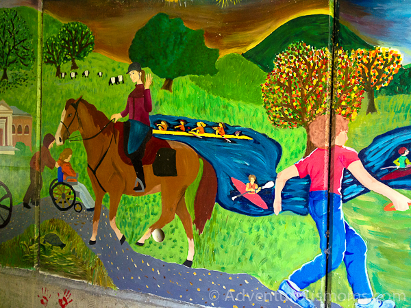 Mural on the Nashua River Rail Trail