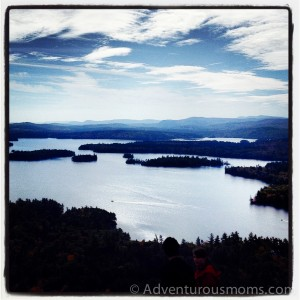 View of Squam Lake from West Rattlesnake Mountain in Holderness, NH