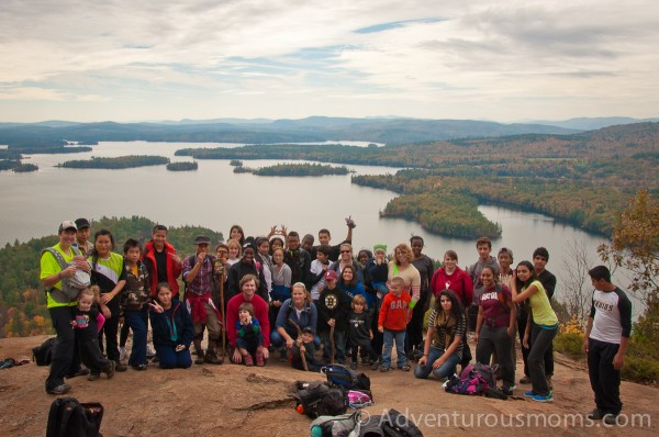 Members of the Outdoor Adventures Club at the summit of West Rattlesnake Mountain in Holderness, NH