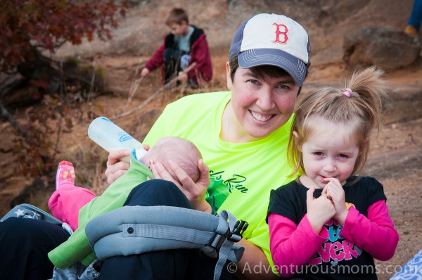 Me, Addie and Kate at the summit of West Rattlesnake Mountain in Holderness, NH