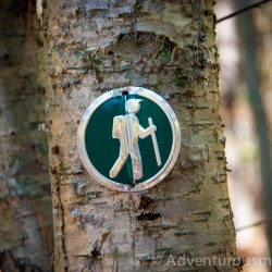 Trail Marker at Woodchuck Hill in North Andover, MA