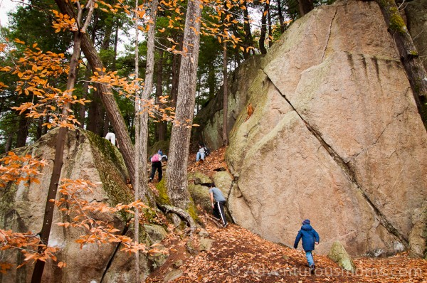 Boulders at Pawtuckaway State Park, New Hampshire